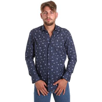 vaatteet Miehet Pitkähihainen paitapusero Betwoin D092 6635535 Sininen