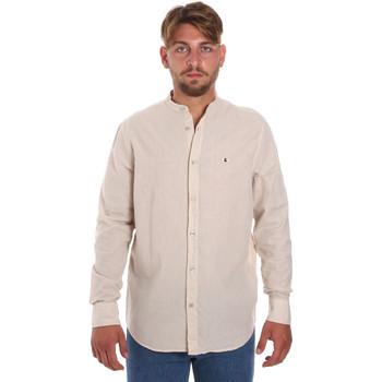 vaatteet Miehet Pitkähihainen paitapusero Les Copains 9U2722 Beige