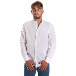 vaatteet Miehet Pitkähihainen paitapusero Les Copains 9U2722 Valkoinen
