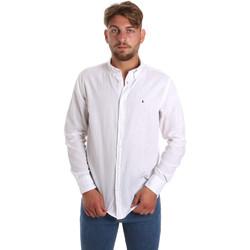 vaatteet Miehet Pitkähihainen paitapusero Les Copains 9U2371 Valkoinen