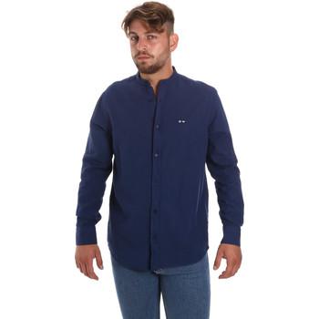 vaatteet Miehet Pitkähihainen paitapusero Les Copains 9U2722 Sininen