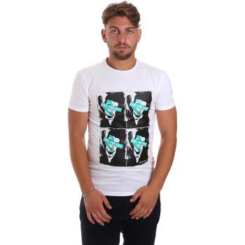 vaatteet Miehet Lyhythihainen t-paita Antony Morato MMKS01743 FA120001 Valkoinen