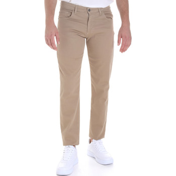 vaatteet Miehet 5-taskuiset housut Les Copains 9U3022 Beige