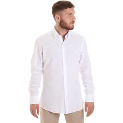 vaatteet Miehet Pitkähihainen paitapusero Les Copains 20P.689 P700SL Valkoinen