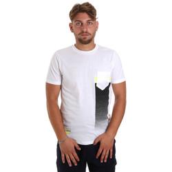 vaatteet Miehet Lyhythihainen t-paita Antony Morato MMKS01794 FA100189 Valkoinen
