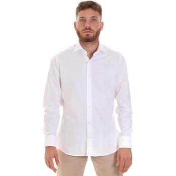 vaatteet Miehet Pitkähihainen paitapusero Les Copains 000.076 P3196 Valkoinen