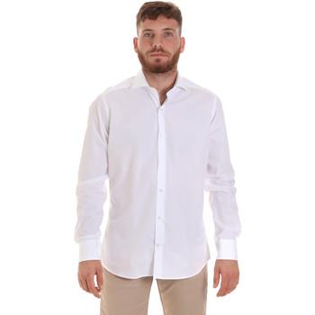 vaatteet Miehet Pitkähihainen paitapusero Les Copains 000.006 P3196SL Valkoinen