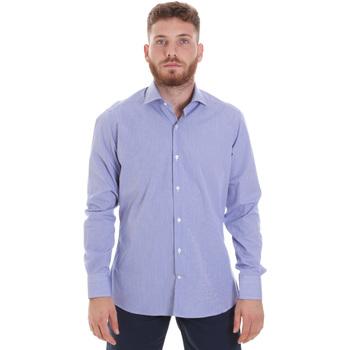 vaatteet Miehet Pitkähihainen paitapusero Les Copains 20P.621 P3196SL Sininen