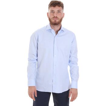 vaatteet Miehet Pitkähihainen paitapusero Les Copains 20P.887 P3196SL Sininen
