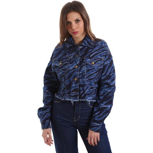vaatteet Naiset Farkkutakki Versace C0HVB939AQC5Q904 Sininen