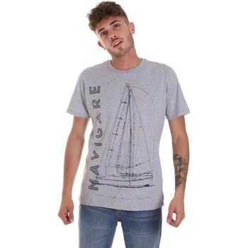 vaatteet Miehet Lyhythihainen t-paita Navigare NV31109 Harmaa