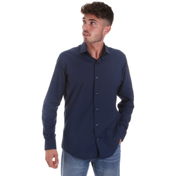 vaatteet Miehet Pitkähihainen paitapusero Les Copains 18P.884 P3196SL Sininen