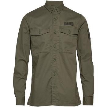 vaatteet Miehet Pitkähihainen paitapusero Superdry M4010023A Vihreä