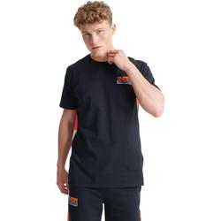 vaatteet Miehet Lyhythihainen t-paita Superdry MS300031A Musta