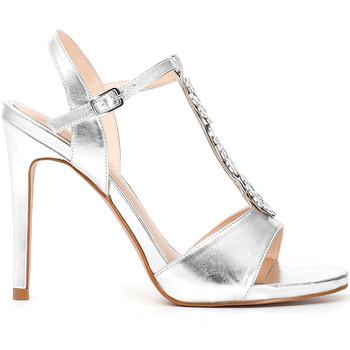 kengät Naiset Sandaalit ja avokkaat Café Noir MC907 Hopea