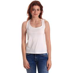 vaatteet Naiset Hihattomat paidat / Hihattomat t-paidat Fornarina SE175L04JG0709 Valkoinen