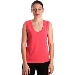 vaatteet Naiset Hihattomat paidat / Hihattomat t-paidat Converse 10017502-A01 Vaaleanpunainen