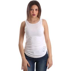 vaatteet Naiset Hihattomat paidat / Hihattomat t-paidat Ea7 Emporio Armani 3GTH54 TJ28Z Valkoinen