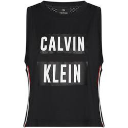 vaatteet Naiset Hihattomat paidat / Hihattomat t-paidat Calvin Klein Jeans 00GWT9K122 Musta
