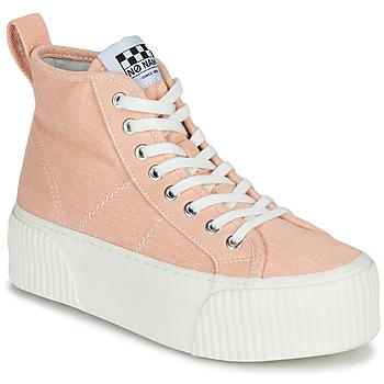 kengät Naiset Korkeavartiset tennarit No Name IRON MID Pink