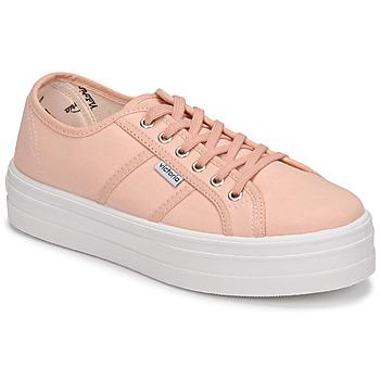 kengät Naiset Matalavartiset tennarit Victoria BARCELONA LONA Vaaleanpunainen