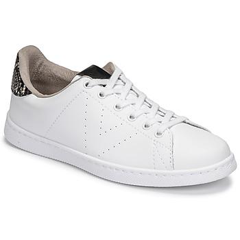 kengät Naiset Matalavartiset tennarit Victoria TENIS VEGANA SERPIENTE Valkoinen / Musta