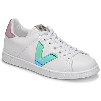 kengät Naiset Matalavartiset tennarit Victoria TENIS VEGANA VINI Valkoinen / Sininen / Vaaleanpunainen