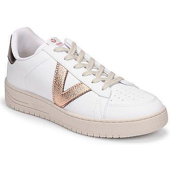 kengät Naiset Matalavartiset tennarit Victoria SIEMPRE BASKET VEGANA METALIZADO White