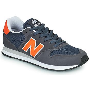kengät Miehet Matalavartiset tennarit New Balance 500 Sininen / Oranssi