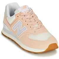 kengät Naiset Matalavartiset tennarit New Balance 574 Vaaleanpunainen / Sininen