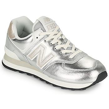 kengät Naiset Matalavartiset tennarit New Balance 574 Hopea