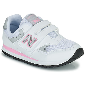 kengät Tytöt Matalavartiset tennarit New Balance 393 Valkoinen / Vaaleanpunainen