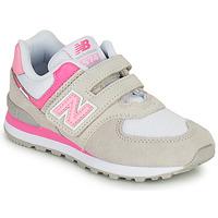 kengät Tytöt Matalavartiset tennarit New Balance 574 Harmaa / Vaaleanpunainen
