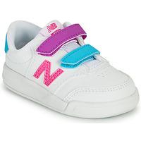 kengät Tytöt Matalavartiset tennarit New Balance COURT Valkoinen / Vaaleanpunainen