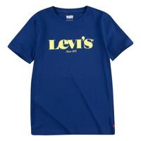 vaatteet Pojat Lyhythihainen t-paita Levi's GRAPHIC TEE Sininen