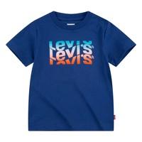 vaatteet Pojat Lyhythihainen t-paita Levi's 9EC826-U29 Laivastonsininen