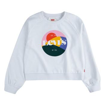 vaatteet Tytöt Svetari Levi's 3ED410-001 Valkoinen