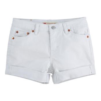 vaatteet Tytöt Shortsit / Bermuda-shortsit Levi's 4E4536-001 Valkoinen