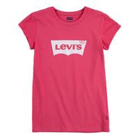 vaatteet Tytöt Lyhythihainen t-paita Levi's BATWING TEE SS Vaaleanpunainen