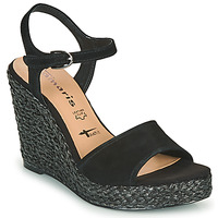 kengät Naiset Sandaalit ja avokkaat Tamaris CYNARA Musta