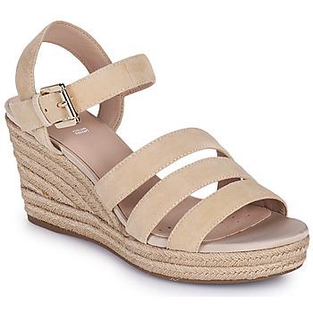 kengät Naiset Sandaalit ja avokkaat Geox D SOLEIL C Beige