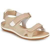 kengät Naiset Sandaalit ja avokkaat Geox D SANDAL VEGA A Beige
