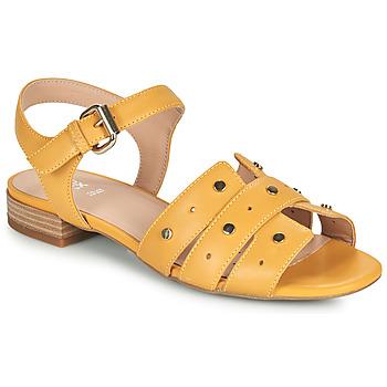kengät Naiset Sandaalit ja avokkaat Geox D WISTREY SANDALO C Keltainen
