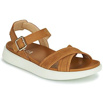 kengät Naiset Sandaalit ja avokkaat Geox D XAND 2S B Konjakki