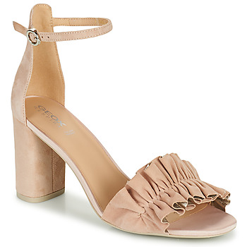 kengät Naiset Sandaalit ja avokkaat Geox D ERAKLIA HIGH E Beige