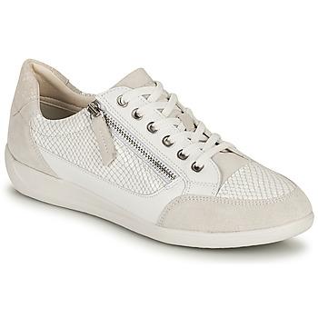 kengät Naiset Matalavartiset tennarit Geox D MYRIA A Valkoinen