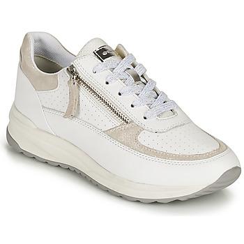 kengät Naiset Matalavartiset tennarit Geox D AIRELL A Valkoinen / Beige
