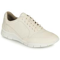 kengät Naiset Matalavartiset tennarit Geox D SUKIE A Valkoinen