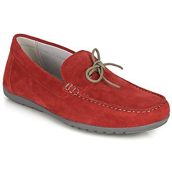 kengät Miehet Mokkasiinit Geox U TIVOLI A Punainen