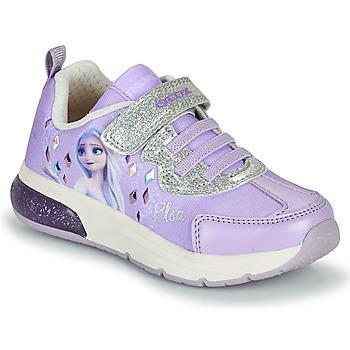 kengät Tytöt Matalavartiset tennarit Geox SPACECLUB GIRL Violetti